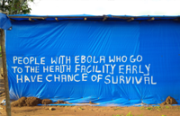 Image of sign at Ebola Treatment Centre